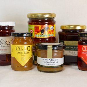 Gelees, Fruchtaufstriche, Honig